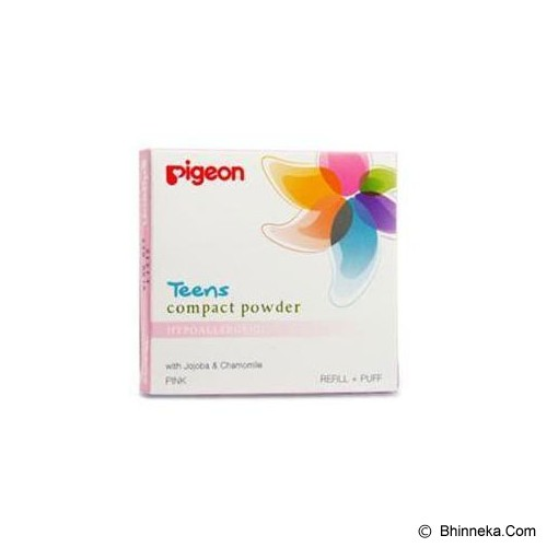 PIGEON Refill Compact Powder Hypoallergenic 14gr [PR080229] - Pink - Make-Up Powder
